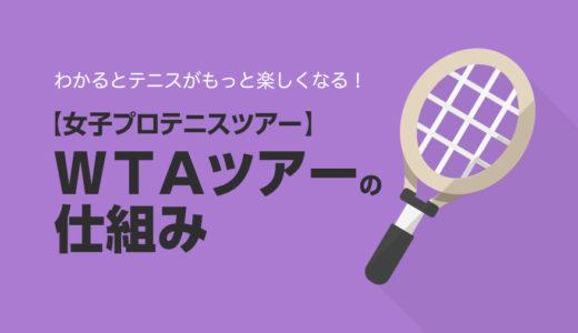【ツアー関連】WTAツアー(女子プロテニスツアー)の仕組み