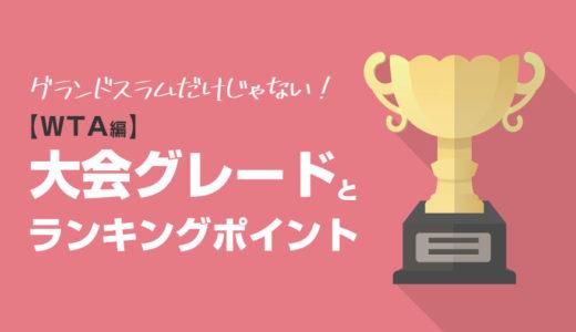 【ツアー関連】WTAツアー(女子プロテニス)の大会グレードとランキングポイント